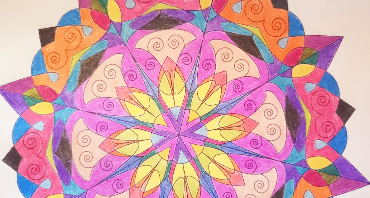 Fertig ausgemaltes Mandala