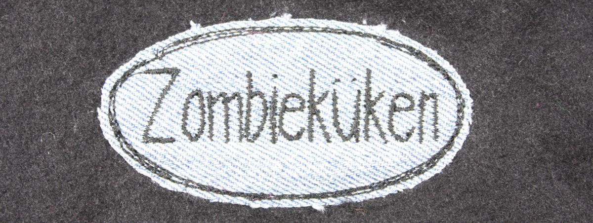 Anleitung Fransenapplikation Zombieküken