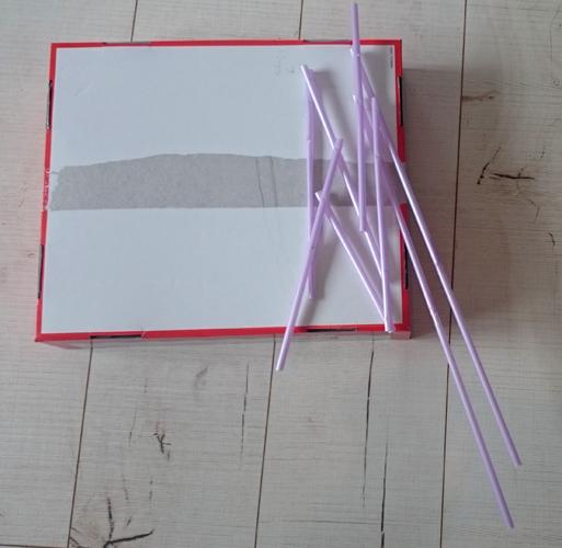 Flügel-Modell aus Strohhalmen