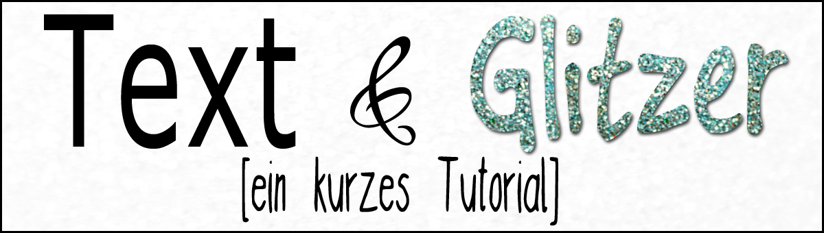 Glitzer-Text mit Photoshop Tutorial