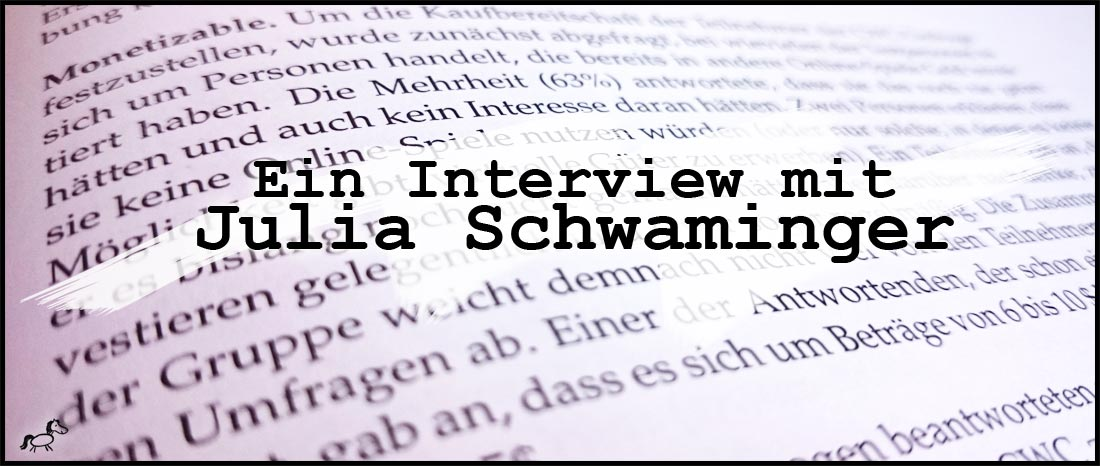Interview mit der Lektorin Julia Schwaminger